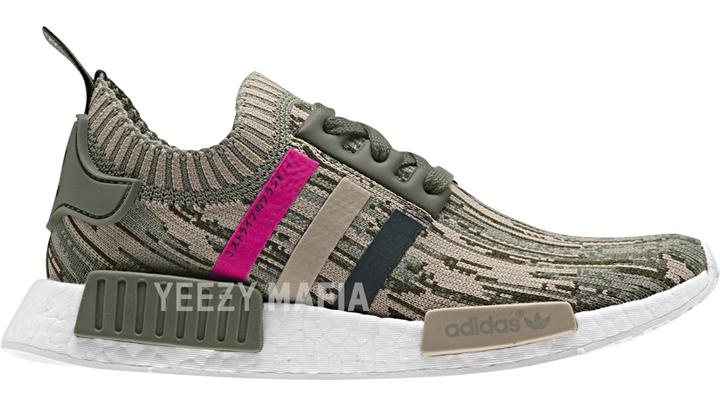 "adidas Originals NMD_R1 PRIMEKNIT {PK} ""Green Night/Shock Pink"" (アディダス オリジナルス エヌ エム ディー プライムニット ""グリーン ナイト/ショック ピンク"") [BY9864]"
