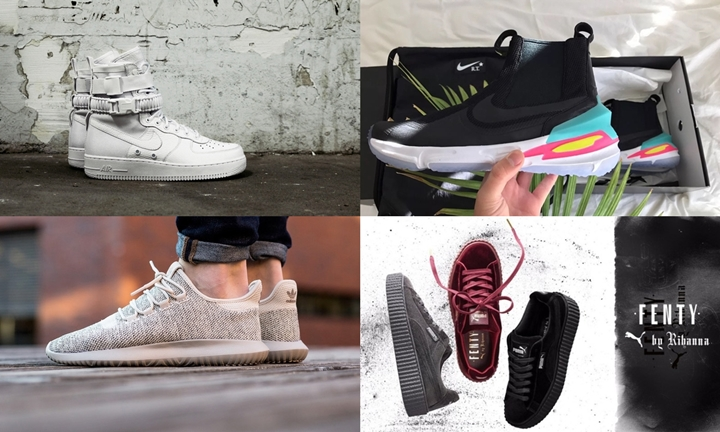 "【まとめ】12/8発売の厳選スニーカー!(NIKE SFAF-1 {Special Field Air Force 1} ""Triple White"")(Riccardo Tisci × NIKELAB AIR ZOOM LEGEND)(adidas Originals TUBULAR SHADOW)(PUMA x Rihanna Fenty CreeperVelvet)他"