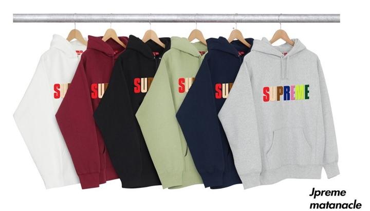 【リーク】シュプリーム (SUPREME) Multicolor Letter Hoody