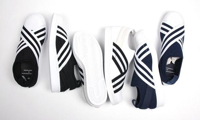 2/24発売!adidas Originals by White Mountaineering 2017 S/S SUPERSTAR SLIP-ON PRIMEKNIT {PK} (アディダス オリジナルス バイ ホワイトマウンテニアリング 2017年 春夏 スリッポン プライムニット) [BY2879,80,81]