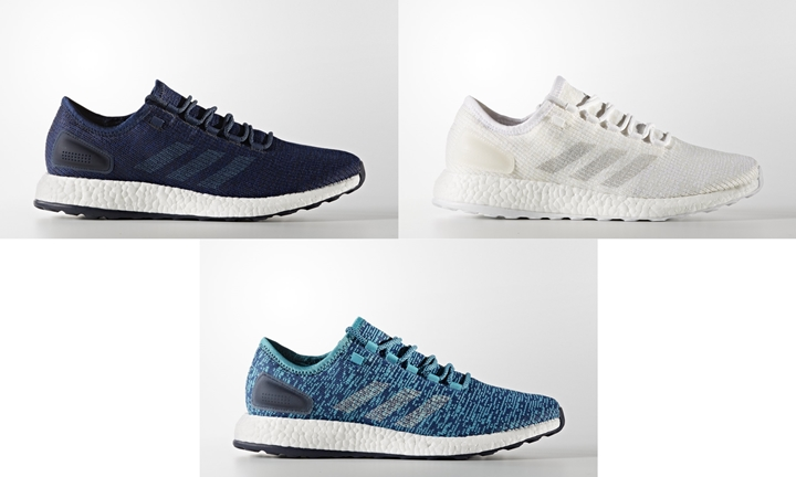 "3/30発売!アディダス ピュアブースト クライマ 3カラー (adidas PUREBOOST CLIMA ""Night Navy/Running White/Energy Blue"") [S77191][S82098,82100]"