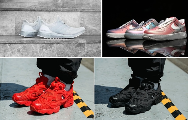 "【まとめ】4/28発売の厳選スニーカー!(adidas ULTRA BOOST 3.0)(NIKE AIR FORCE 1 LOW 07 LV8 ""Iridescent"")(REEBOK INSTA PUMP FURY ""Woven Pack"")他"