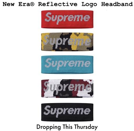 """【リーク】SUPREME × New Era """"Reflective headband"""" (シュプリーム ニューエラ """"リフテレクティブ ヘッドバンド"""")"""
