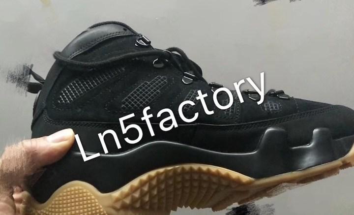 """【リーク】ナイキ エア ジョーダン 9 ブーツ NRG """"ブラック/ガム"""" (NIKE AIR JORDAN 9 NRG """"Black/Gum"""")"""