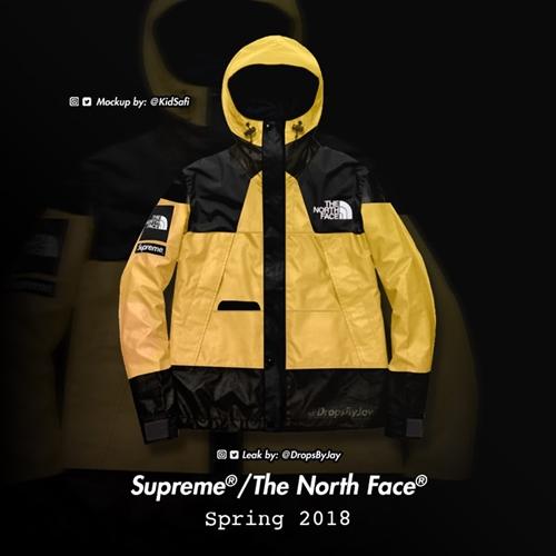 【リーク】2018年 春夏モデルか?シュプリーム (SUPREME) × ザ・ノース・フェイス (THE NORTH FACE)との新たなコラボモックアップが登場!