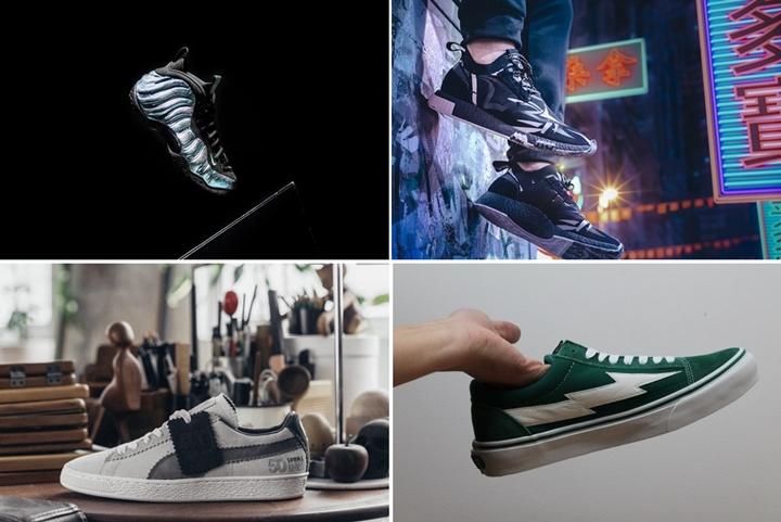 """【まとめ】1/20発売の厳選スニーカー!(NIKE AIR FOAMPOSITE ONE """"Aurora Green"""")(JUICE × adidas CONSORTIUM NMD_RACER)(Revenge × Storm """"Green"""")(Michael Lau x PUMA SUEDE CLASSIC """"SAMPLE SUEDE"""" White/Steel Grey)他"""