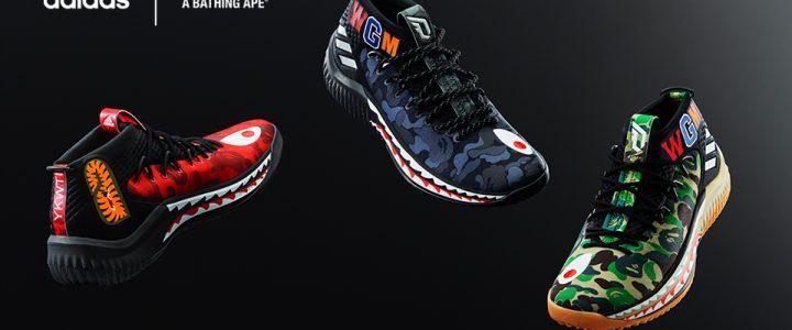 "A BATHING APE × adidas Dame 4 ""BAPE Pack"" (ア ベイシング エイプ アディダス ダミアン・リラード 4 ""ベイプ パック"") [AP9974,9975]"