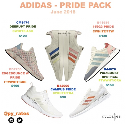 "【リーク】6月展開予定!adidas Originals ""Pride Pack-LGBT"" 2018 ""CAMPUS/I-5923/DEERUPT/PURE BOOST DPR/EDGE BOUNCE"" (アディダス オリジナルス ""プライド"")"