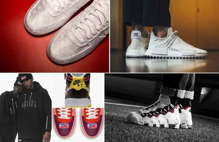 "【まとめ】2/23発売の厳選スニーカー!(CLOT NIKE AIR FORCE 1 PREMIUM ""Triple White"")(Pharrell Williams x adidas Originals NMD TRAIL Holi ""HUMAN RACE"" White)(NIKELAB × Riccardo Tisci ""VICTORIOUS MINOTAURS"")(AIR MORE MONEY ""White/Red"")他"