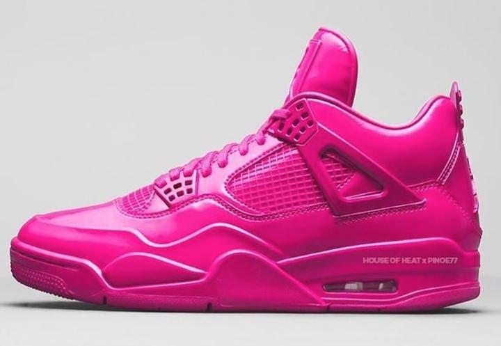 """【リーク】ナイキ エア ジョーダン 4の30周年を記念して、ウィメンズモデルの""""Pink Patent""""カラーが2019年にリリースの噂 (NIKE AIR JORDAN 4 RETRO """"ピンク"""")"""