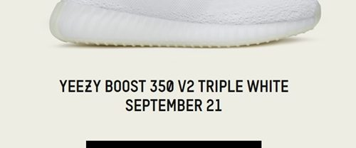 "【国内 9/21発売】 adidas Originals YEEZY 350 BOOST V2 ""Triple White/Cream White"" [CP9366]"