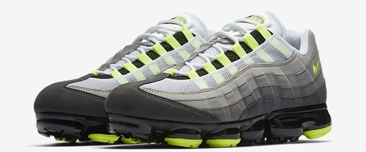 "【8/16 発売】ナイキ エア ヴェイパーマックス 95 OG ""ネオン"" (NIKE AIR VAPORMAX 95 OG ""Black/Volt/Medium Ash/Dark Pewter/Dust Granite"""") [AJ7292-001]"