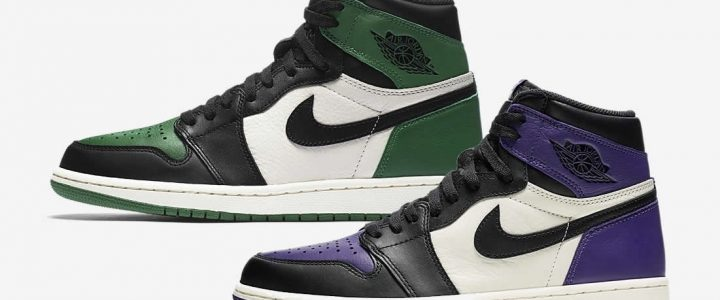 """【9/22 発売予定】ナイキ エア ジョーダン 1 レトロ ハイ """"パイン グリーン/コート パープル"""" (NIKE AIR JORDAN 1 RETRO HIGH """"Pine green/Court Purple"""") [555088-302,501]"""
