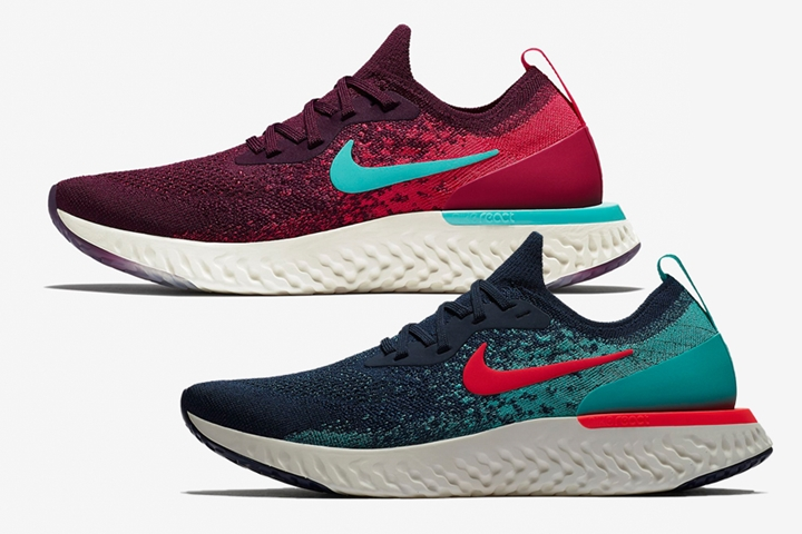 "【オフィシャルイメージ】ナイキ エピック リアクト フライニット ""カレッジ ネイビー/ボルドー"" (NIKE EPIC REACT FLYKNIT ""Collegiate Navy/Bordeaux"") [AR5413-400][AR5518-600]"