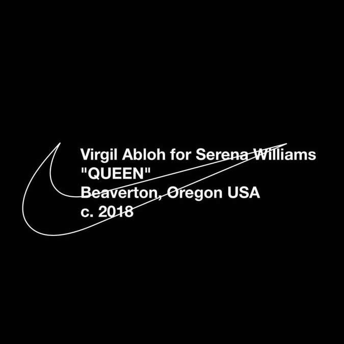Serena Williams × OFF-WHITE C/O VIRGIL ABLOH × NIKE のトリプルコラボを発表 (セリーナ・ウィリアムズ オフホワイト ナイキ)