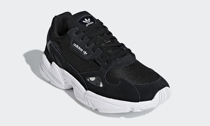 """9/6発売!adidas Originals WMNS FALCON """"Black/White"""" (アディダス オリジナルス ウィメンズ ファルコン """"ブラック/ホワイト"""") [B28129]"""