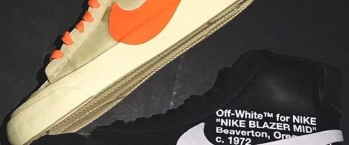 """【海外 9/27発売】 OFF-WHITE c/o VIRGIL ABLOH × NIKE BLAZER STUDIO MID """"Grim Reepers/All Hallows Eve"""" """"Part 2"""" (オフホワイト ナイキ ブレーザー スタディオ ミッド """"パート 2"""") [AA3832-001,700]"""