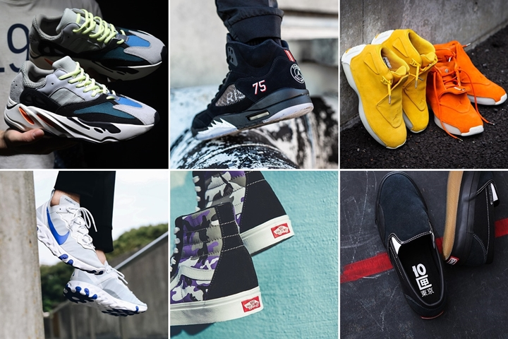 "【まとめ】9/15 発売の厳選スニーカー!(YEEZY WAVE RUNNER 700)(NIKE JORDAN BRAND × PSG)(NIKE AIR JORDAN 18 RETRO)(VANS ""POP CAMO PACK"")他"