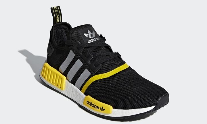 """adidas Originals NMD_R1 COLOR """"Core Black/Yellow"""" (アディダス オリジナルス カラード エヌ エム ディー カラー """"コアブラック/イエロー"""") [F99713]"""