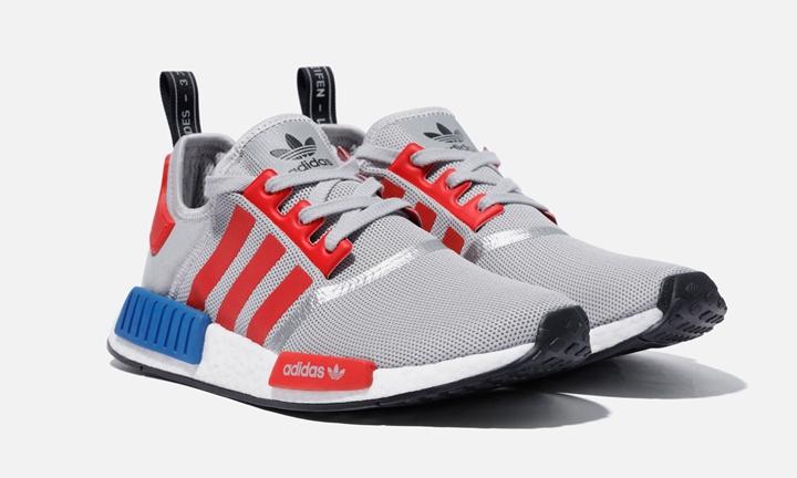 """adidas Originals NMD_R1 COLOR """"Grey/Red"""" (アディダス オリジナルス カラード エヌ エム ディー カラー """"グレー/レッド"""") [F99714]"""