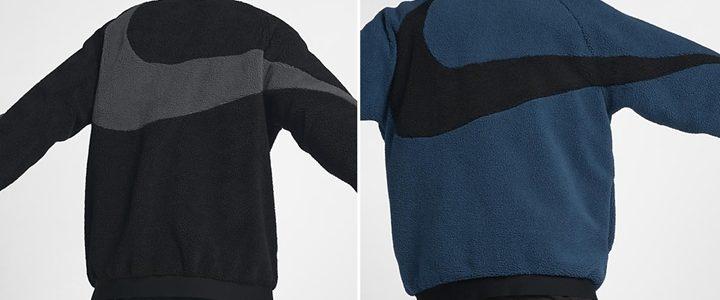 """ナイキ スポーツウェア リバーシブル スウッシュ フル ジップ ジャケット """"ブラック/ブルー フォース"""" (NIKE NSW REVERSIBLE SWOOSH FULL ZIP JACKET """"Black/Blue Force"""") [AJ2701-011,474]"""