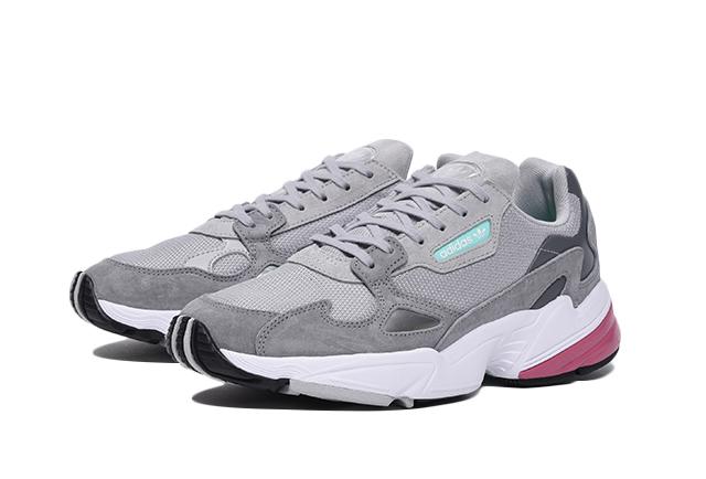 """adidas Originals WMNS FALCON """"Grey/Raw Pink"""" (アディダス オリジナルス ウィメンズ ファルコン """"グレー/ロウ ピンク"""") [D96698]"""