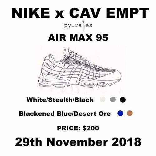 11/29発売予定!C.E × NIKE AIR MAX 95 2カラーがリリースか!? (シーイー ナイキ エア マックス 95)