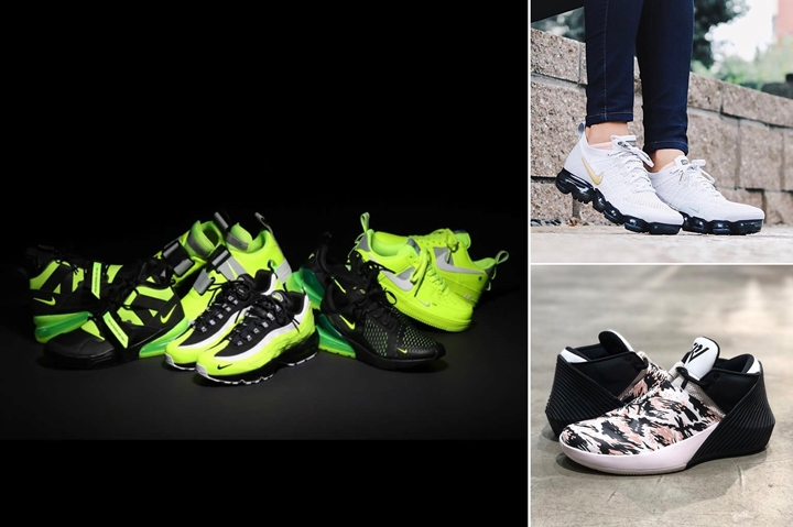 "【まとめ】11/11 発売の厳選スニーカー!(NIKE ""Volt"" AIR FORCE 1/FORCE 270/MAX 270/MAX 95/SFAF-1)(JORDAN WHY NOT ZER0.1 LOW ""Phantom/Black"")(WMNS AIR VAPORMAX 2 FLYKNIT ""Pure Platinum/Metallic Gold"")"