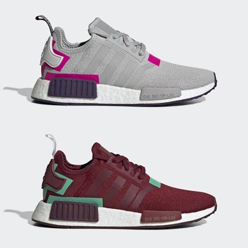 """12/15発売!adidas Originals WMNS NMD_R1 """"Grey/Burgundy"""" (アディダス オリジナルス ウィメンズ エヌ エム ディー) [BD8006,8007]"""