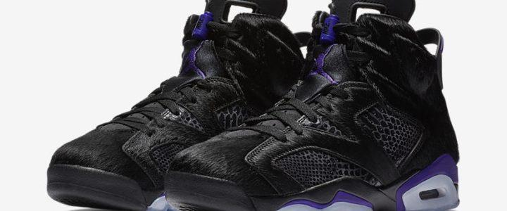 """【2/13 発売】ポニーヘアを使用したナイキ エア ジョーダン 6 """"ブラック/パープル"""" (NIKE AIR JORDAN 6 """"Black/Purple"""") [AR2257-005]"""