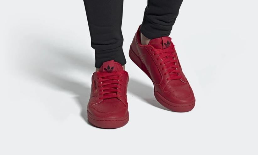 """2月発売!adidas Originals CONTINENTAL 80 """"Red"""" (アディダス オリジナルス コンチネンタル 80 """"レッド"""")[EE4144]"""
