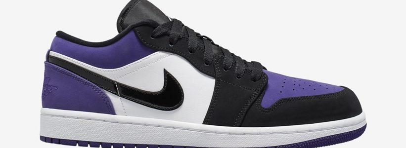 """ナイキ エア ジョーダン 1 ロー """"ホワイト/ブラック/コートパープル"""" (NIKE AIR JORDAN 1 LOW """"White/Black/Court Purple"""") [553558-125]"""