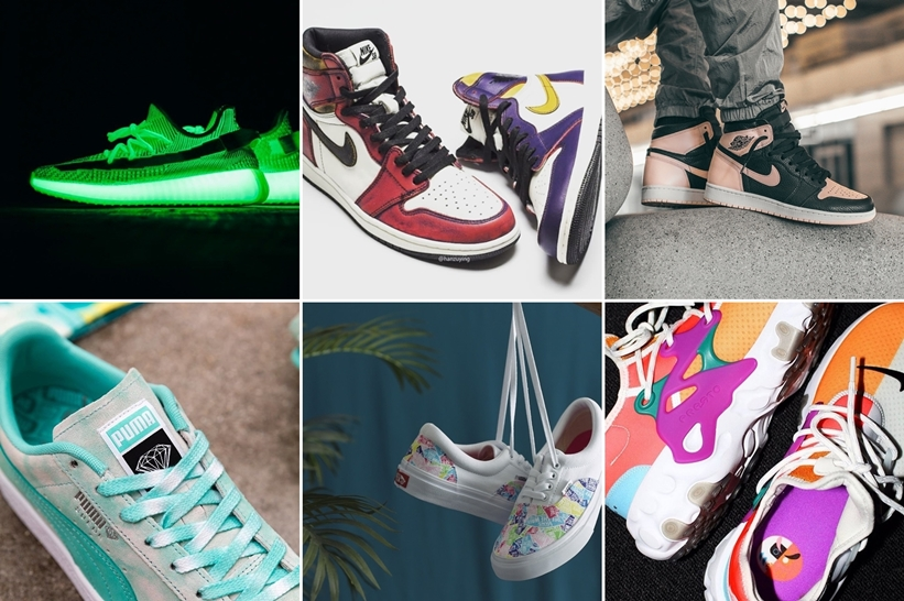 "【まとめ】5/25 発売の厳選スニーカー!(NIKE SB AIR JORDAN 1 HIGH OG DEFIANT)(AIR JORDAN 1 HIGH RETRO OG ""Crimson Tint"")(adidas Originals YEEZY BOOST 350 V2 ""GLOW IN THE DARK"")(DIAMOND SUPPLY CO. PUMA SUEDE/CALI/LEADCAT)"