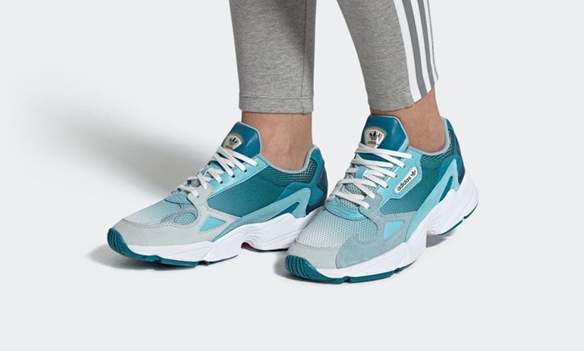 """6/22発売!adidas Originals WMNS FALCON """"Blue Tint/Light Aqua"""" (アディダス オリジナルス ウィメンズ ファルコン """"ブルーティント/ライトアクア"""") [EF1963]"""