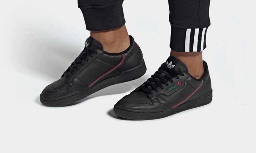 """7/24発売!adidas Originals CONTINENTAL 80 """"Core Black/Scarlet/Collegiate Green"""" (アディダス オリジナルス コンチネンタル 80 """"コアブラック/スカーレット/カレッジエイトグリーン"""")[EE5343]"""