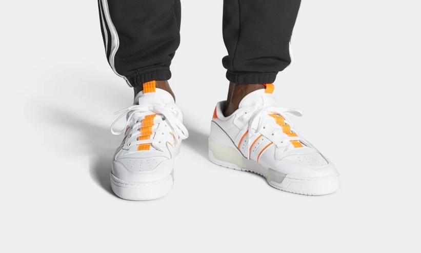 """9/1発売!adidas Originals RIVALRY LOW """"Cloud White/Solar Orange"""" (アディダス オリジナルス ライバルリー ロー """"クラウドホワイト/ソーラーオレンジ"""") [EE4965]"""