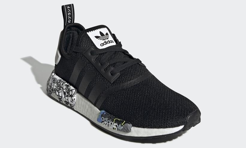 "adidas Originals NMD_R1 ""Black/Multi/Graffiti"" (アディダス オリジナルス エヌ エム ディー アールワン ""ブラック/マルチ/グラフィティ"") [EH0779]"