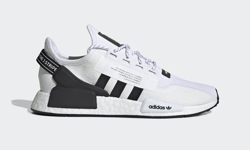 """11/23発売!adidas Originals NMD_R1 V2 """"White/Black"""" (アディダス オリジナルス エヌ エム ディー ブイツー """"ホワイト/ブラック"""") [FV9022]"""