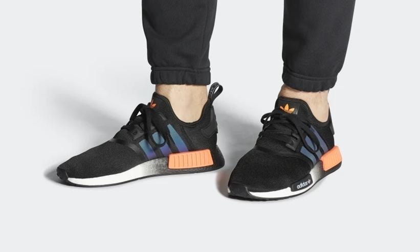 """12/20発売!adidas Originals NMD_R1 """"Core Black/Solar Orange/White"""" (アディダス オリジナルス エヌ エム ディー """"コアブラック/ソーラオレンジ/ホワイト"""") [FW0185]"""