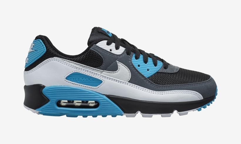"""ナイキ エア マックス 90 """"ブラック/グレー/ブルー"""" (NIKE AIR MAX 90 """"Black/Grey/Blue"""") [CT0693-001]"""