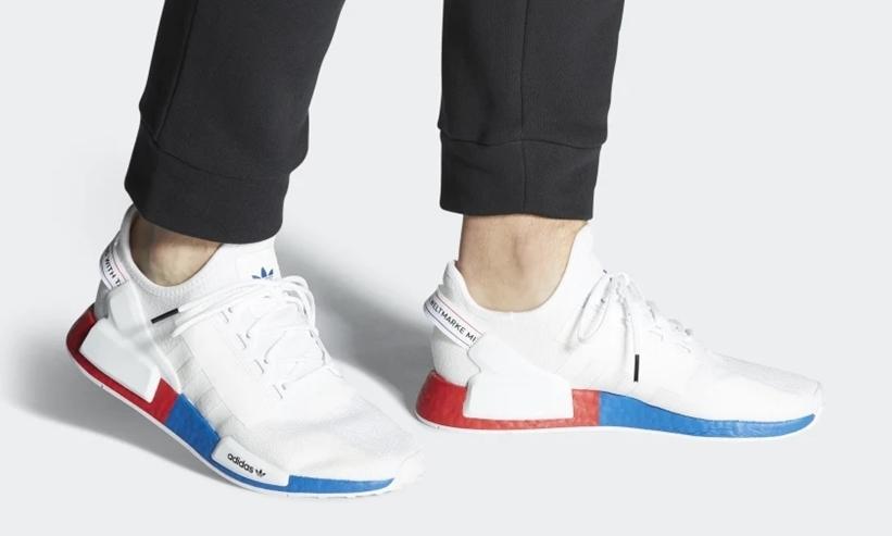 """3/1発売!adidas Originals NMD_R1 V2 """"White/Lush Red"""" (アディダス オリジナルス エヌ エム ディー ブイツー """"ホワイト/ラッシュレッド"""") [FX4148]"""
