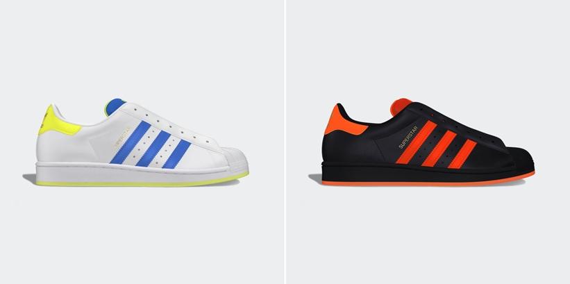 """adidas Originals SUPERSTAR LACELESS """"Solar Yellow/Solar Orange"""" (アディダス オリジナルス スーパースター レースレス """"ソーラーイエロー/ソーラーオレンジ"""") [FV3020,3021]"""