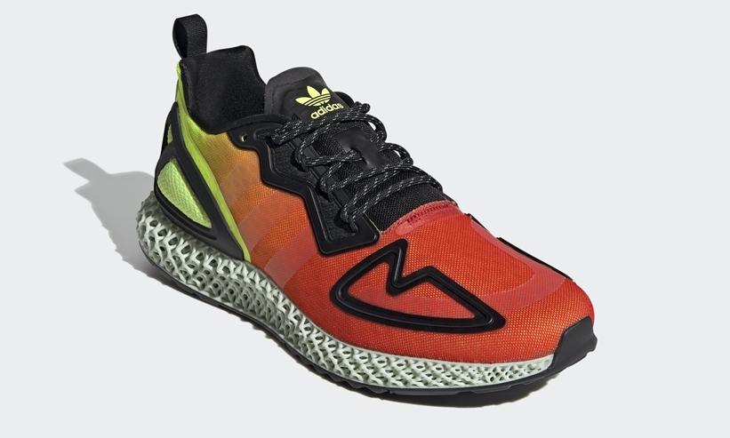 """4/1発売!adidas Originals ZX 2K 4D """"Solar Yellow"""" (アディダス ゼットエックス 2K 4D """"ソーラーイエロー"""") [FV9028]"""