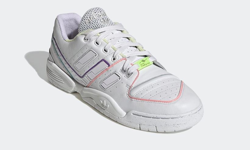 """4/2発売!アディダス オリジナルス トルション コンプ """"ホワイト/イエロー/パープル"""" (adidas Originals TORSION COMP """"White/Yellow/Purple"""") [EF5974]"""