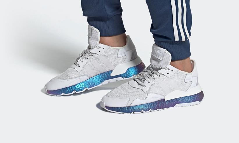 """銀河を思わせる adidas Originals NITE JOGGER """"White""""が4/2発売 (アディダス オリジナルス ナイトジョガー """"ホワイト"""") [FV3746]"""