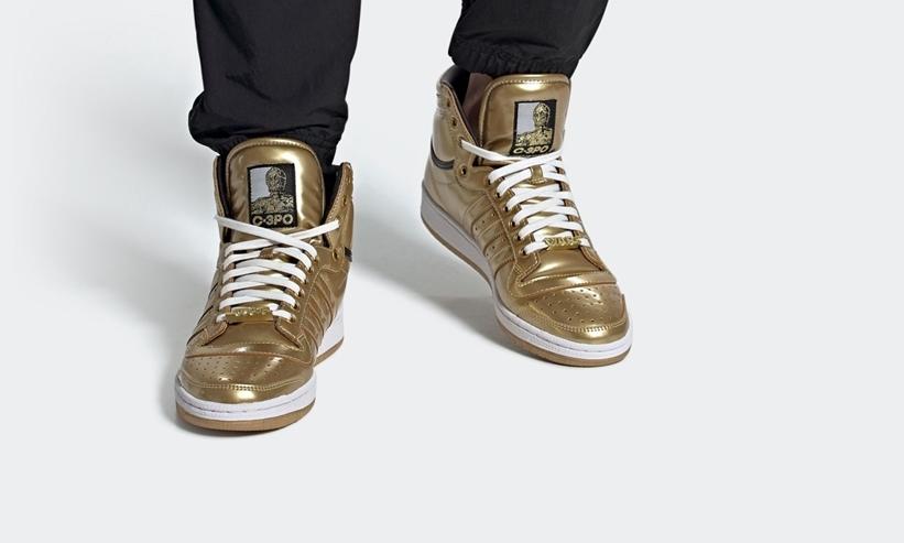 """スターウォーズ × アディダス オリジナルス トップ テン ハイ """"C-3PO"""" (STAR WARS adidas Originals TOP TEN HI """"C-3PO"""") [FY2458]"""