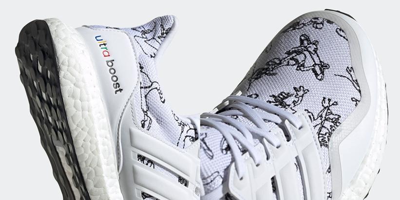 """アディダス ウルトラ ブースト """"ディズニー グーフィー"""" ホワイト/ブラック (adidas ULTRA BOOST """"Disney Goofy"""" White/Black) [FV6049]"""