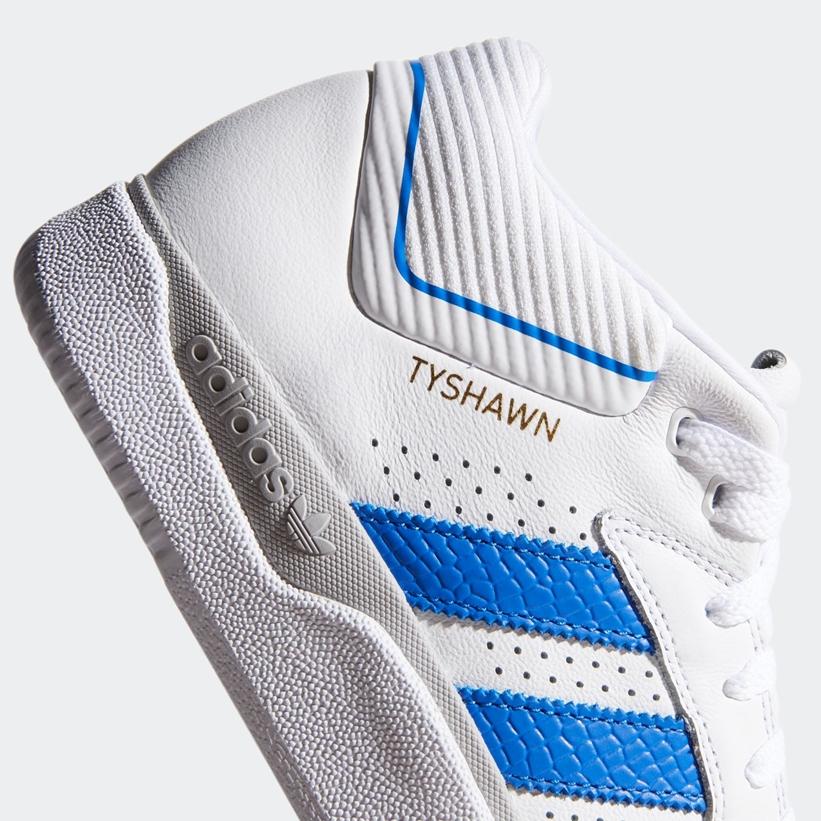 """6/4発売!adidas Skateboarding TYSHAWN """"White/Blue/Metallic Gold (タイショーン・ジョーンズ アディダス スケートボーディング """"ホワイト/ブルー/ゴールドメタリック"""") [EG9058]"""