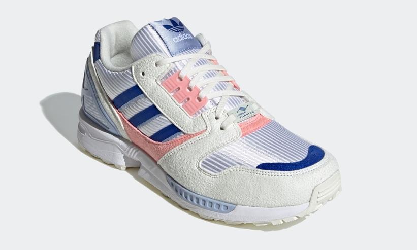 """6/4発売!adidas Originals ZX 8000 """"White/Team Royal Blue/Glory Pink"""" (アディダス オリジナルス ゼットエックス 8000 """"ホワイト/チームロイヤルブルー/グローリーピンク"""") [FX3940]"""