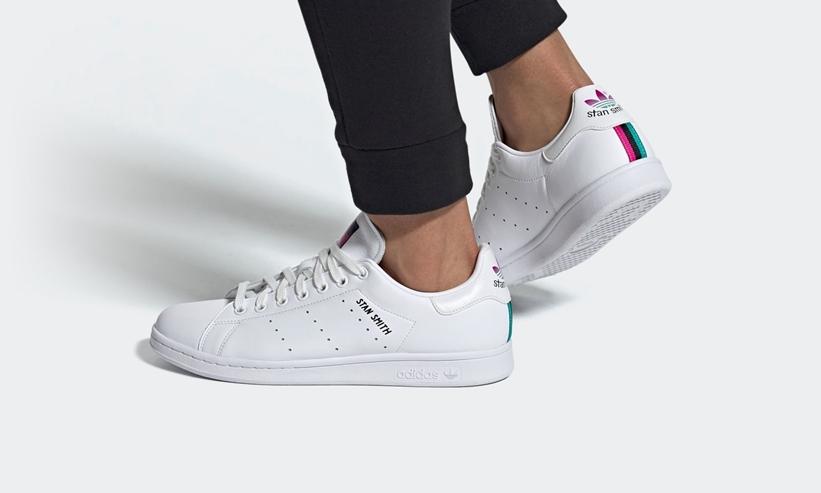 """6/4発売!グラデーションが美しい アディダス オリジナルス スタンスミス (adidas Originals STAN SMITH """"White/Hi-Res Aqua"""") [FX3517]"""